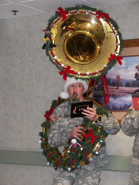 Zach christmas tuba